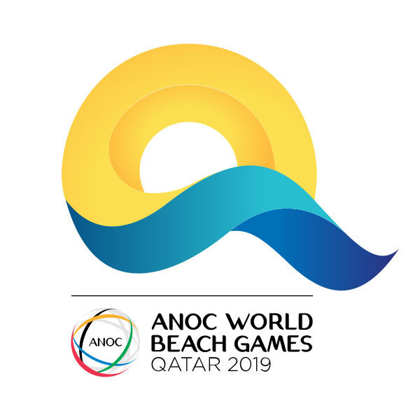 Qatar 2019 ANOC World Beach Games logo